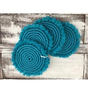 Set of 4 Teal Swirl Coasters